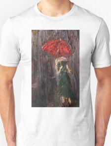 Pink Umbrella  T-Shirt