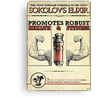 Sokolov's Elixir Dishonored Poster Canvas Print