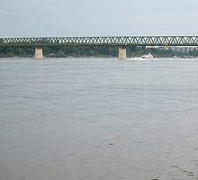 Northern Railway Bridge,capital Budapest,Hungary,Europe,2010 by ambrusz