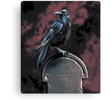 Raven on a Tomb Canvas Print