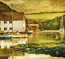 The Helford river at Gweek by Catherine Hamilton-Veal  ©