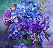 Hydrangea Bouquet by Carol  Cavalaris