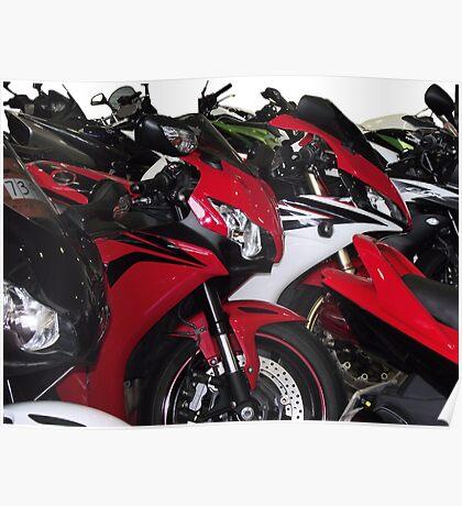 Motor Bikes Poster
