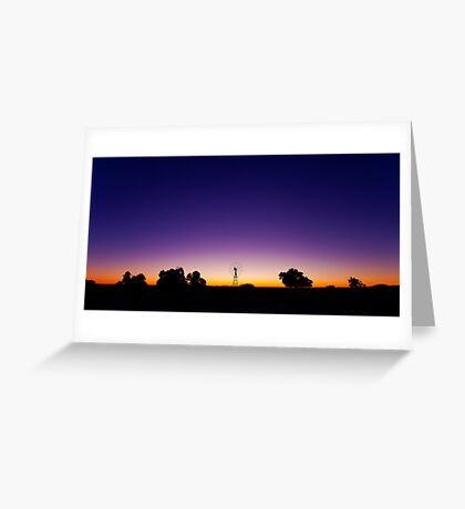 Outback Blue - The Waterhole Greeting Card