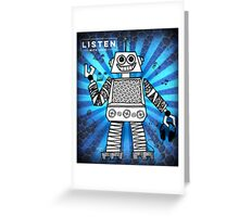 Listen with Love Robot Greeting Card