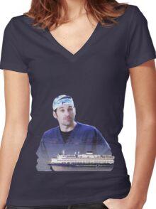 Derek Shepherd ferries Women's Fitted V-Neck T-Shirt