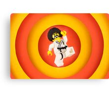 Afro Karate Guy Canvas Print