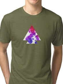 Abstract Geometry: Swirling Psychedelic Oils (Purple/Pink/White) Tri-blend T-Shirt