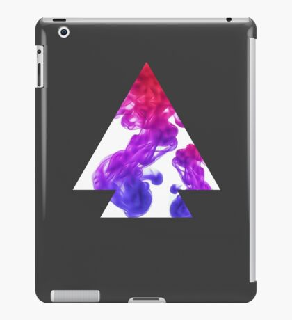Abstract Geometry: Swirling Psychedelic Oils (Purple/Pink/White) iPad Case/Skin