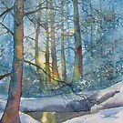 Winter Light in the Forest by Glenn  Marshall