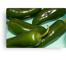 jalepenos peppers Canvas Print