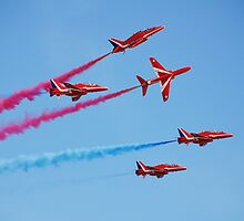 Red Arrows aerobatic team by David Fowler
