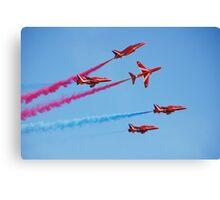 Red Arrows aerobatic team Canvas Print