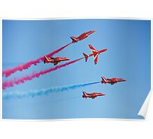 Red Arrows aerobatic team Poster