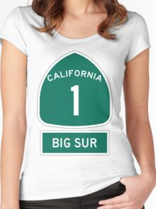 PCH - CA Highway 1 - Big Sur Women's Fitted Scoop T-Shirt