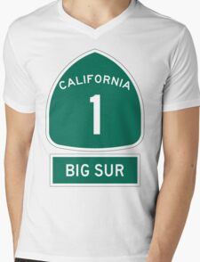 PCH - CA Highway 1 - Big Sur Mens V-Neck T-Shirt