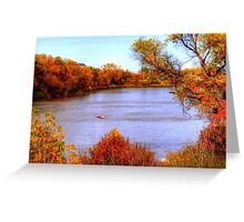 Autumn on the Assiniboine Greeting Card