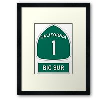PCH - CA Highway 1 - Big Sur Framed Print