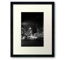 """melbourne - """"Streetscape"""" #1 Framed Print"""