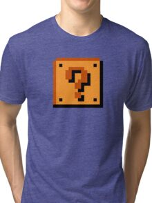 Mario Question Mark Tri-blend T-Shirt