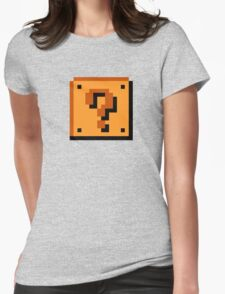 Mario Question Mark Womens Fitted T-Shirt
