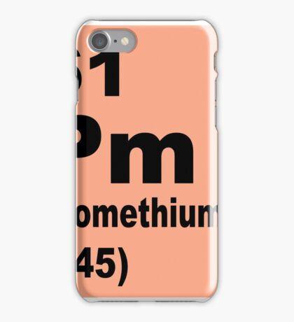 Promethium Periodic Table of Elements iPhone Case/Skin