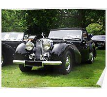 Triumph Roadster   1946-48 Black Poster