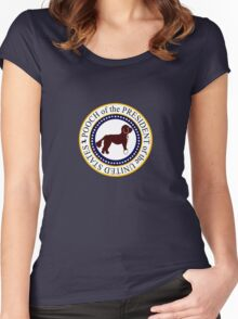 Pooch of the presidential seal geek funny nerd Women's Fitted Scoop T-Shirt