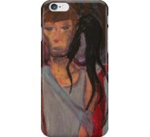 Falling Past Gray(red lady occurrence) iPhone Case/Skin