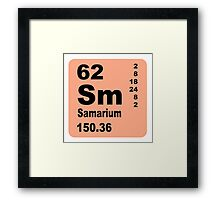 Samarium Periodic Table of Elements Framed Print