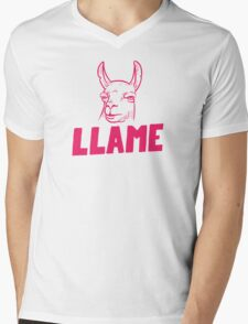 Llame Mens V-Neck T-Shirt