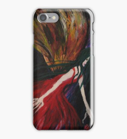 MothLady Reaching for Rose iPhone Case/Skin