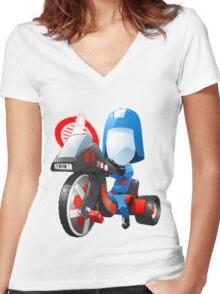 Cobra Commander on 80's big wheel Women's Fitted V-Neck T-Shirt