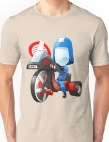 Cobra Commander on 80's big wheel Unisex T-Shirt