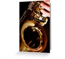 Jazz Saxophone Greeting Card