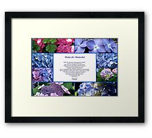 RECIPE FOR NANTUCKET Framed Print