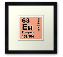 Europium Periodic Table of Elements Framed Print