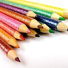 Multi-Coloured Pencils by Lizzylocket
