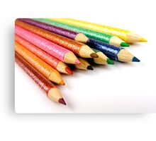 Multi-Coloured Pencils Canvas Print
