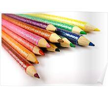 Multi-Coloured Pencils Poster
