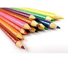 Multi-Coloured Pencils Photographic Print
