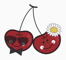 Bride & Groom Cheeky Cherries T-shirt by fatfatin