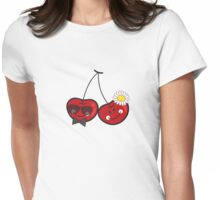 Mr. & Mrs. Cute Cheeky Cherries Womens Fitted T-Shirt