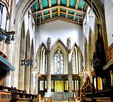 The Altar From The Nave  ~ Bradford Cathedral ~ by Sandra Cockayne