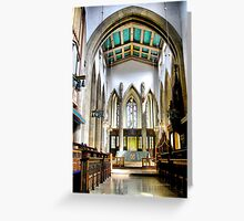 The Altar From The Nave  ~ Bradford Cathedral ~ Greeting Card