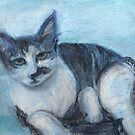 Blue &#x27;Tude (Pastel) by Niki Hilsabeck