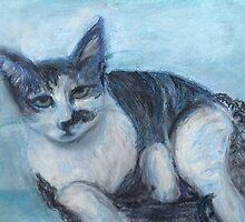 Blue 'Tude (Pastel) by Niki Hilsabeck