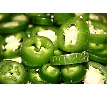 Jalapenos in Color Photographic Print