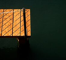Venetian Dock in summer by Kathy Dellow