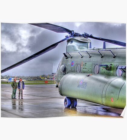 Chinook In The Rain HDR - Shoreham Airshow 2010 Poster